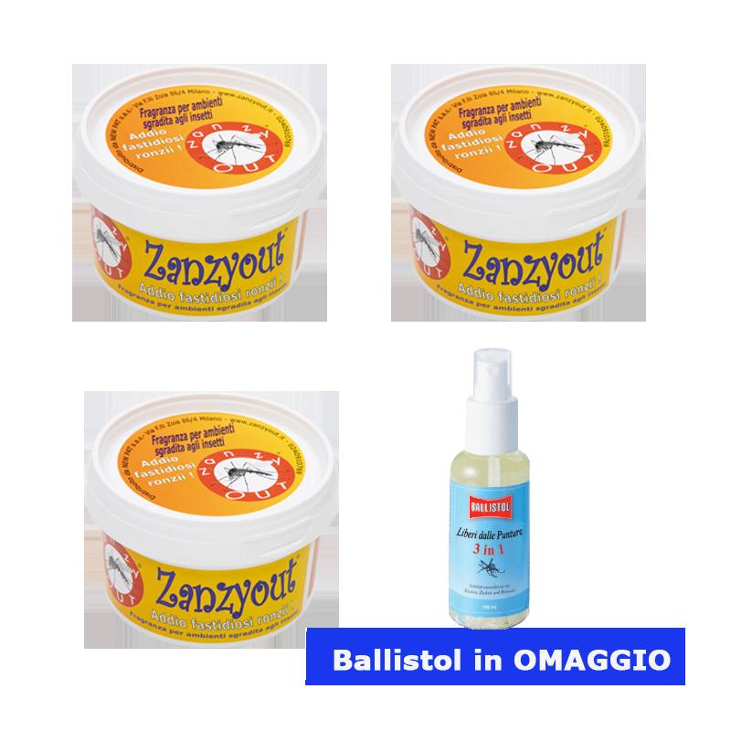 Promozione 3 Zanzyout + 1 Ballistol OMAGGIO Prodotti Naturali